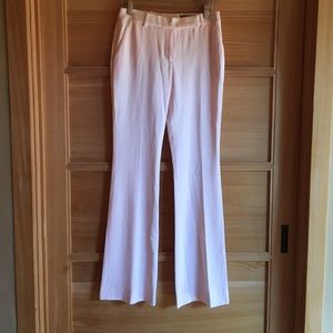 Alexander McQueen pink flared wool trousers